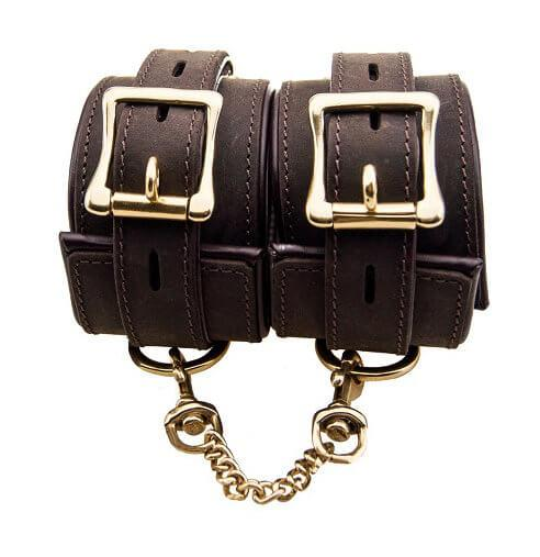 n10095 bound ankle cuffs 1 1 1 2 - BOUND Nubuck Leather Ankle Restraints