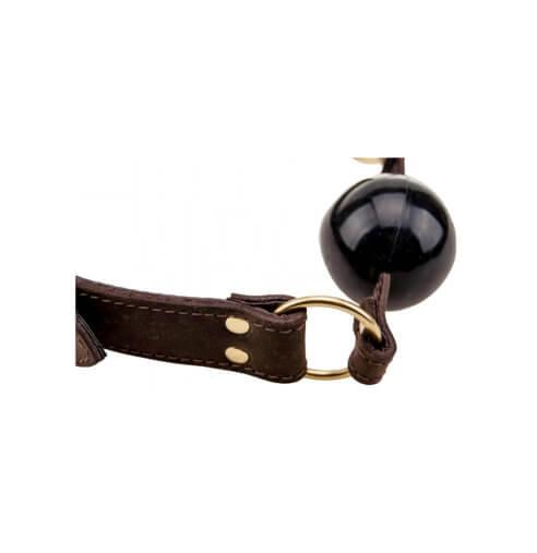 n10099 bound solid ball gag 1 1 2 - BOUND Nubuck Leather Solid Ball Gag