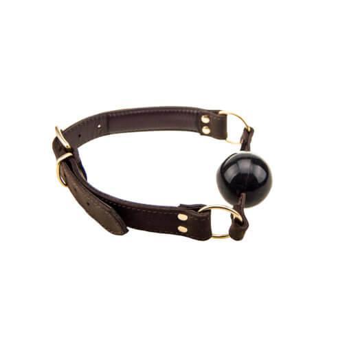n10099 bound solid ball gag 1 1 2 2 - BOUND Nubuck Leather Solid Ball Gag
