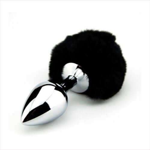 n10422 furry fantasy black bunny tail 2 1 2 - Furry Fantasy Black Bunny Tail Butt Plug