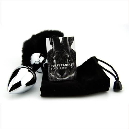 n10422 furry fantasy black bunny tail 4 2 - Furry Fantasy Black Bunny Tail Butt Plug
