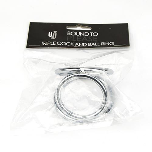 n10456 bound to  please triple cock and ball ring 4 2 - Bound to Please Triple Cock and Ball Ring