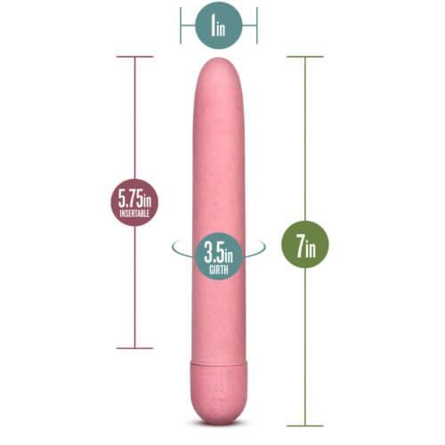 n10844 gaia biodegrable eco vibrator pink 6 1 - Gaia Biodegradable Eco Vibrator Pink