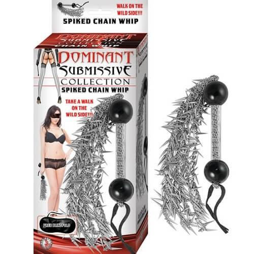 n10905 spiked chain whip 1 1 - Dominant Submissive Spiked Chain Whip