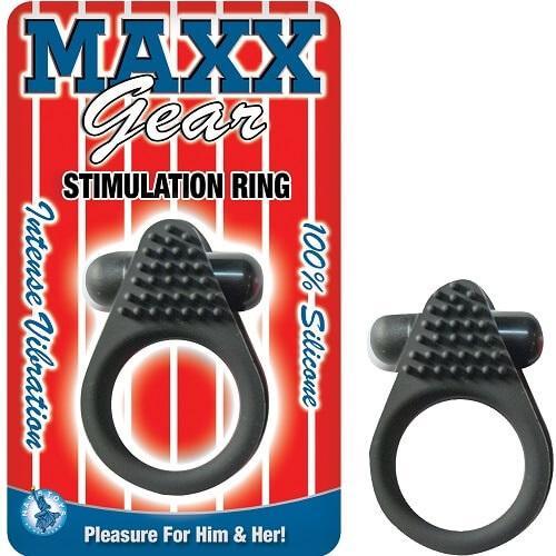 n10914 maxx gear vibrating cock ring clitoral stimulation black 1 2 - Maxx Gear Vibrating Cock Ring with Clitoral Stimulation Black