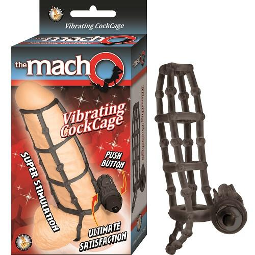 n10918 macho vibrating cockcage black 1 1 - The MachO Vibrating Cockcage Black