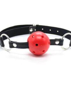 N10931 Btp Breathable Ball Gag Red 2