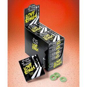 n7395 glow in the dark love rings 1 3 300x300 - Glow in the Dark Love Rings - 3 Pack