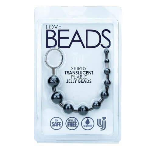 n8440 loving joy anal beads black 1 2 - Loving Joy Anal Love Beads Black
