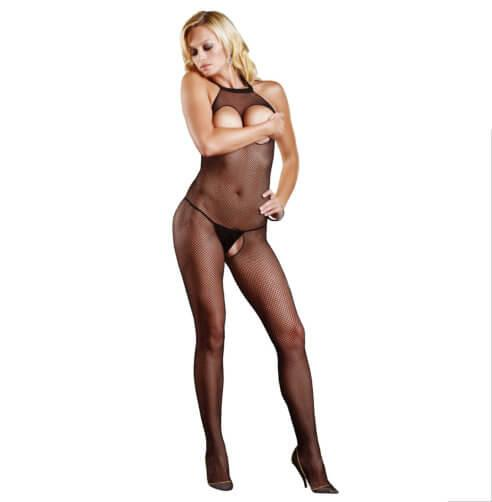n9156 leg avenue fishnet halter bodystocking 1 4 - Leg Avenue Fishnet Halter Bodystocking