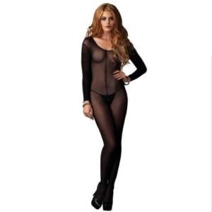 Leg Avenue Sheer Long Sleeves Bodystocking