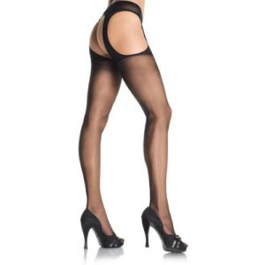 n9238 sheer suspender pantyhose 2 300x300 - Leg Avenue Sheer Suspender Pantyhose