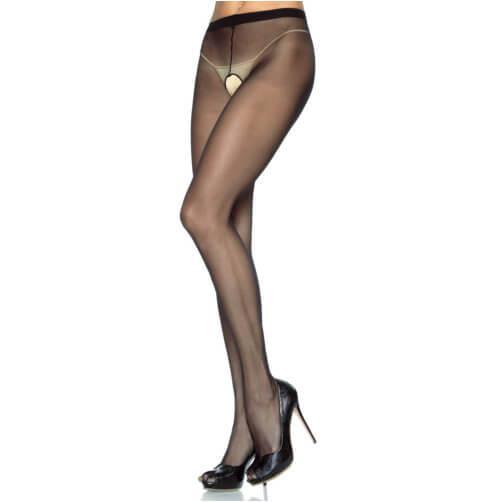 n9266 leg avenue plus size crotchless sheer pantyhose 1 5 - Leg Avenue Plus Size Crotchless Sheer Pantyhose