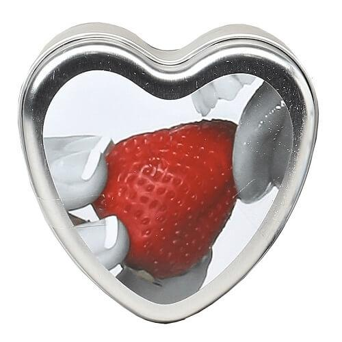 Earthly Body 3 in 1 Edible Massage Heart Candle