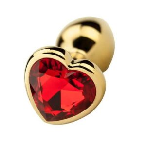 ns7167 precious metals heart shaped anal plug gold 1 5 300x300 - Precious Metals Heart Shaped Anal Plug-Gold