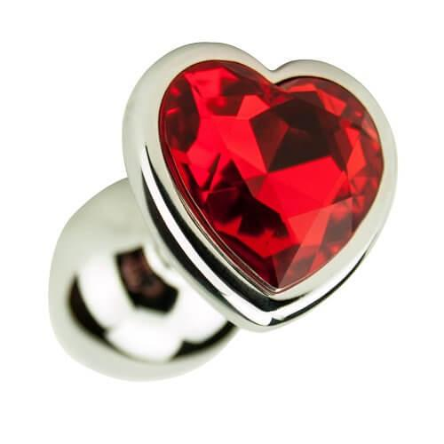 ns7168 precious metals heart shaped anal plug silver 1 4 - Precious Metals Heart Shaped Anal Plug-Silver