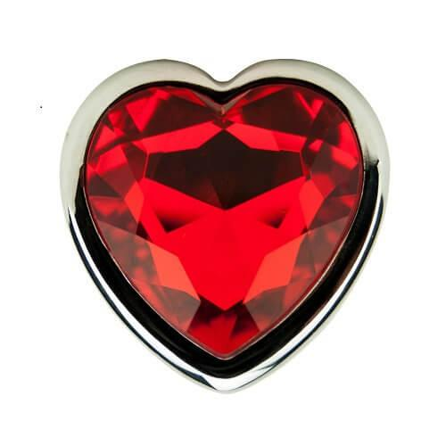 ns7168 precious metals heart shaped anal plug silver 3 3 - Precious Metals Heart Shaped Anal Plug-Silver