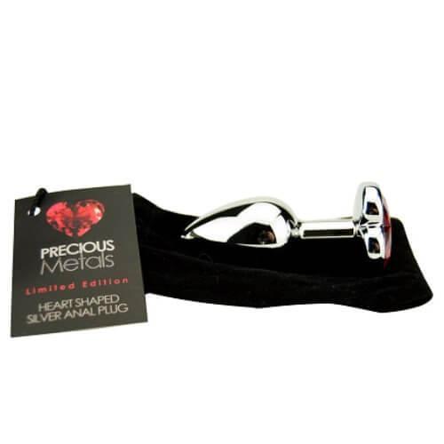 ns7168 precious metals heart shaped anal plug silver 4 2 - Precious Metals Heart Shaped Anal Plug-Silver