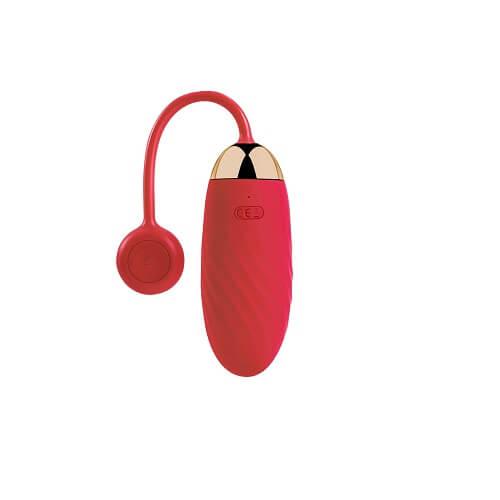 Svakom Ella APP Controlled Silicone Vibrating Egg - Red
