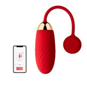 Svakom Ella APP Controlled Silicone Vibrating Egg Red