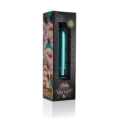 n11057 ro peacock petals 4 - Rocks Off Touch of Velvet 10 Function Bullet Vibrator Peacock Petals