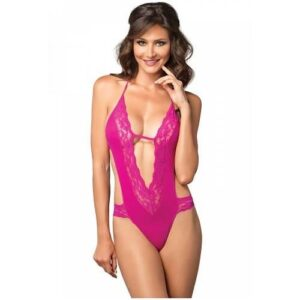 n11075 leg avenue deep v teddy and panty fushia 1 300x300 - Leg Avenue Deep-V Teddy & Panty Fushia