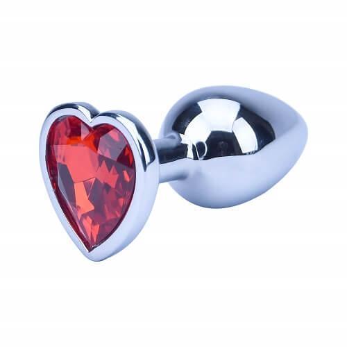 ns7168 precious metals limited edition heart shaped butt plug silver 1 - Precious Metals Heart Shaped Anal Plug-Silver
