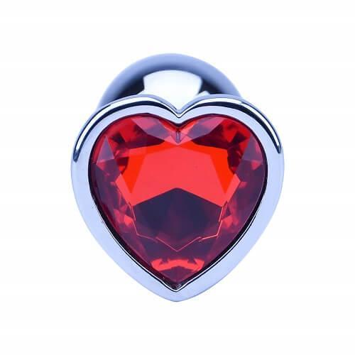 ns7168 precious metals limited edition heart shaped butt plug silver 2 - Precious Metals Heart Shaped Anal Plug-Silver