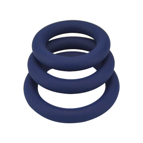 Loving Joy Thick Silicone Cock Rings 3 Pack