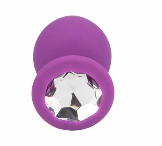 n11239 loving joy jewelled silicone butt plug purple large 3 - Loving Joy Jewelled Silicone Butt Plug Purple -Large