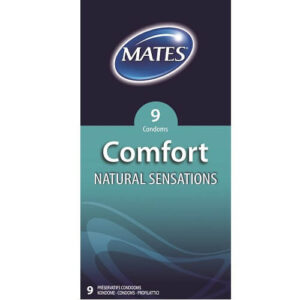 Mates Comfort Natural Sensations Condoms 9 Pack
