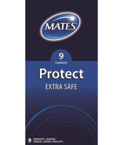 Mates Protect Extra Safe Condoms 9 Pack