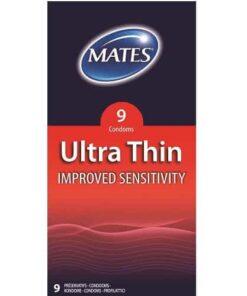 Mates Ultra Thin Condoms 9 Pack