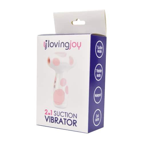 N11642 Loving Joy 2 In 1 Suction Vibrator Jumbo Dot Pkg 2