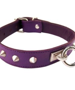 Rouge Garments Purple Studded O-Ring Studded Collar